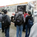 Cindy Chew 4/11/05 Highschoolers board the 38 Geary bus on Monday.